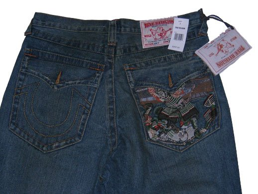 True Religion Joey Bloomies with Samurai Embroidery