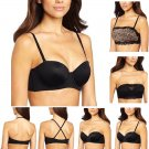 New FASHION FORMS Strapless Convertible Push-up Bra +2-FREE Lace Overlays 34B,C
