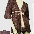$68 New BELABUMBUM Fleur Lace FL30 Fully Lined Short Robe Lounge Robe S M L