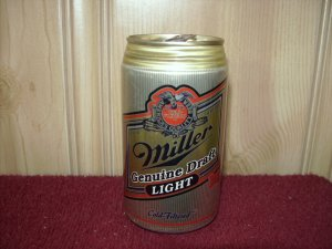 MILLER GENUINE DRAFT LIGHT BEER Can-Miller brewing Co Milwaukee, Wi. Sta Tab