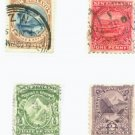 New Zealand Scott #84 85 86 90  4 vars. Used Stamps