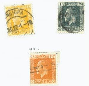 New Zealand Scott #160,162,163 3 Vars. Used Stamp