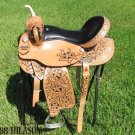 Flex-Tree Hilason Barrel Racing Trail Western Saddle 15