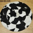 Hair-On Leather Patchwork 42in. Cowhide Rug Carpet 021
