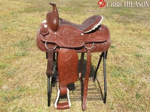 KK129 HILASON WESTERN ROPING TRAIL PLEASURE SADDLE 16