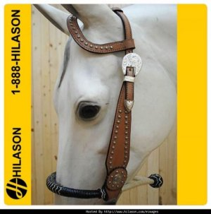 Western Horse One Ear Bitless Bridle Headstall Bosal