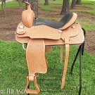 Hilason Draft Horse Western Trail Riding Saddle 17