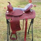 TO536 Hilason Treeless Western Barrel Trail Saddle 17