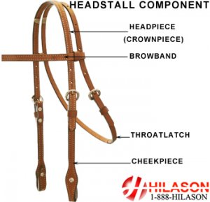 Western Leather Tack: Horse Bridle/Headstall With Reins