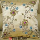 New Hand Embroidered Cushion Pillow Cover Set of 2