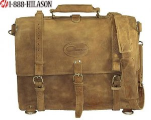 Rustic Vintage Leather Briefcase Backpack Laptop Bag XL