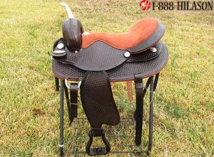 Hilason Treeless Western Trail Barrel Saddle 18 TO505DB