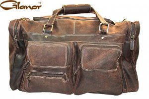 GLDB100CB Rugged Distressed Boot Leather Duffle and Gym Bags