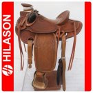BH004 HILASON BIG KING WESTERN WADE RANCH ROPING SADDLE 16