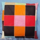 PL340 Smooth Leather PatchWork Cushion Pillow Cover