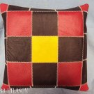 PL357 Smooth Leather PatchWork Cushion Pillow Cover