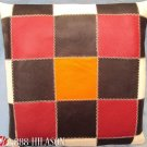 PL416 Smooth Leather PatchWork Cushion Pillow Cover