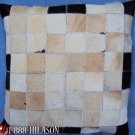 PL460 Cowhide Leather Hair-On PatchWork Cushion Pillow Cover