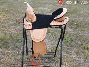 AW108 Hilason Treeless Western Trail Barrel Saddle 18