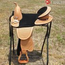AW106 Hilason Treeless Western Trail Barrel Saddle 16