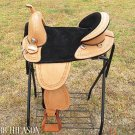AW104 Hilason Treeless Western Trail Barrel Saddle 16