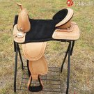 AW105 Hilason Treeless Western Trail Barrel Saddle 17