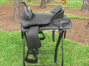 TO509 Hilason Treeless Western Pleasure Trail Riding Saddle 18