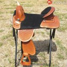 AW111ST Hilason Treeless Western Trail Barrel Saddle 18