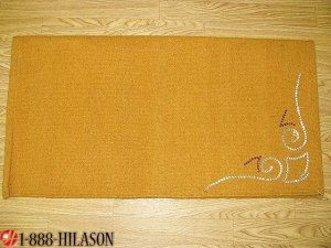 DP142 WESTERN SADDLE BLANKET PAD WOOL BLING SHOW RODEO YELLOW