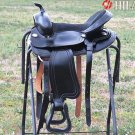 524BK Hilason Treeless Western Trail Barrel Racing Saddle 15