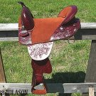 TW176 Hilason Treeless Western Barrel Trail Saddle 17