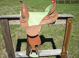 TW256 Hilason Treeless Western Barrel Trail Saddle 16