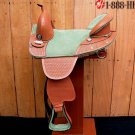 TW262 Hilason Treeless Western Barrel Trail Saddle 17