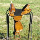 AW112ALB Hilason Treeless Western Trail Barrel Saddle 15