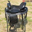 Hilason Treeless Western Barrel Trail Saddle 16 TO510BK