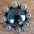 CN045F- 1 TURQUOISE RHINESTONE BERRY CONCHOS BLING HEADSTALL TACK  COWGIRL