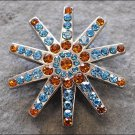CN063F- 32 TURQUOISE BROWN RHINESTONE SPUR CONCHOS BLING HEADSTALL TACK