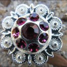 CN013F-32 FUCHSIA RHINESTONE BERRY CONCHOS CRYSTALS HEADSTALL TACK COWGIRL 1INCH