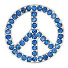 CN007F- 1 SAPPHIRE PEACE RHINESTONE CONCHOS CRYSTALS HEADSTALL TACK BLING