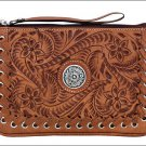 AMERICAN WEST LEATHER EASY TRAVELER LADIES E-READER ACCESSORY CASE PURSE