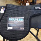 ET-425-F EQUI-LOK ENGLISH ALL-PURPOSE TACKY TACK CONTOURED SADDLE PAD - BLACK