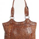AMERICAN WEST LEATHER RODEO WOMEN'S FASHION TOTE SHOPPER BAG