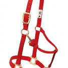 RED ORIGINAL ADJUSTABLE CHIN AND THROAT SNAP HALTER BY WEAVER LEATHER - 3/4&quot;
