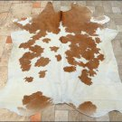 F-HS713 HILASON NATURAL FULL BRAZILIAN HAIR-ON LEATHER COWHIDE THROW RUG CARPET