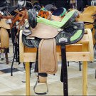 OS194CN084F- HILASON WESTERN BARREL RACING TRAIL SADDLE 15 WITH MATCHING CONCHOS