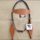 NEW HILASON WESTERN HAND TOOLED LEATHER HORSE BRIDLE HEADSTALL - LIGHT OIL S316
