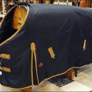 HILASON 600D HEAVY WINTER WATERPROOF BLACK STABLE BLANKET RUG HORSE WEAR COAT 84