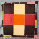 Smooth Leather PatchWork Cushion Pillow Cover PL353
