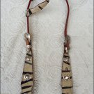 465-F Exotic Zebra Hair On One Ear Headstall Bridle tack