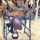 JUST B NATURAL TREELESS BARREL RACING TRAIL WIDE TREE SADDLE 15 BY Circle Y